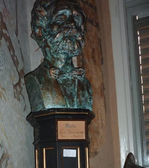 Busto Giuseppe Verdi. Scultore Albert Ferrer, f...