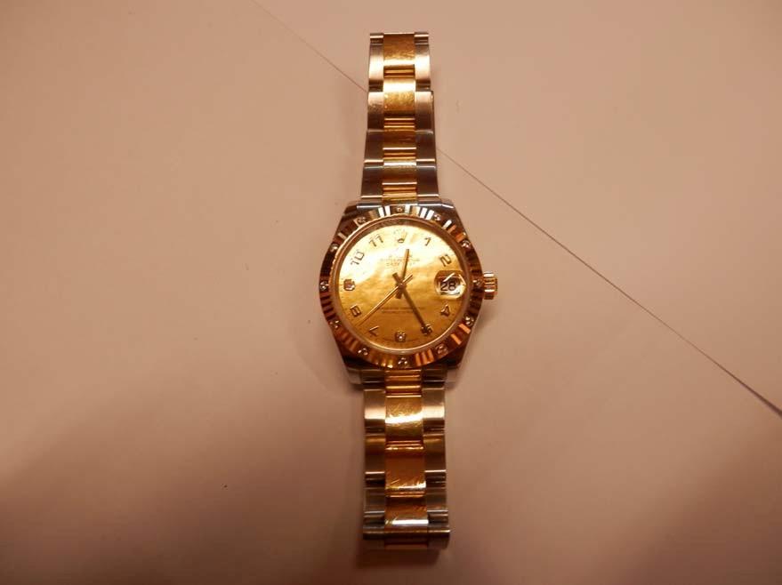Orologio rolex acciaio/oro/diamanti Datejust