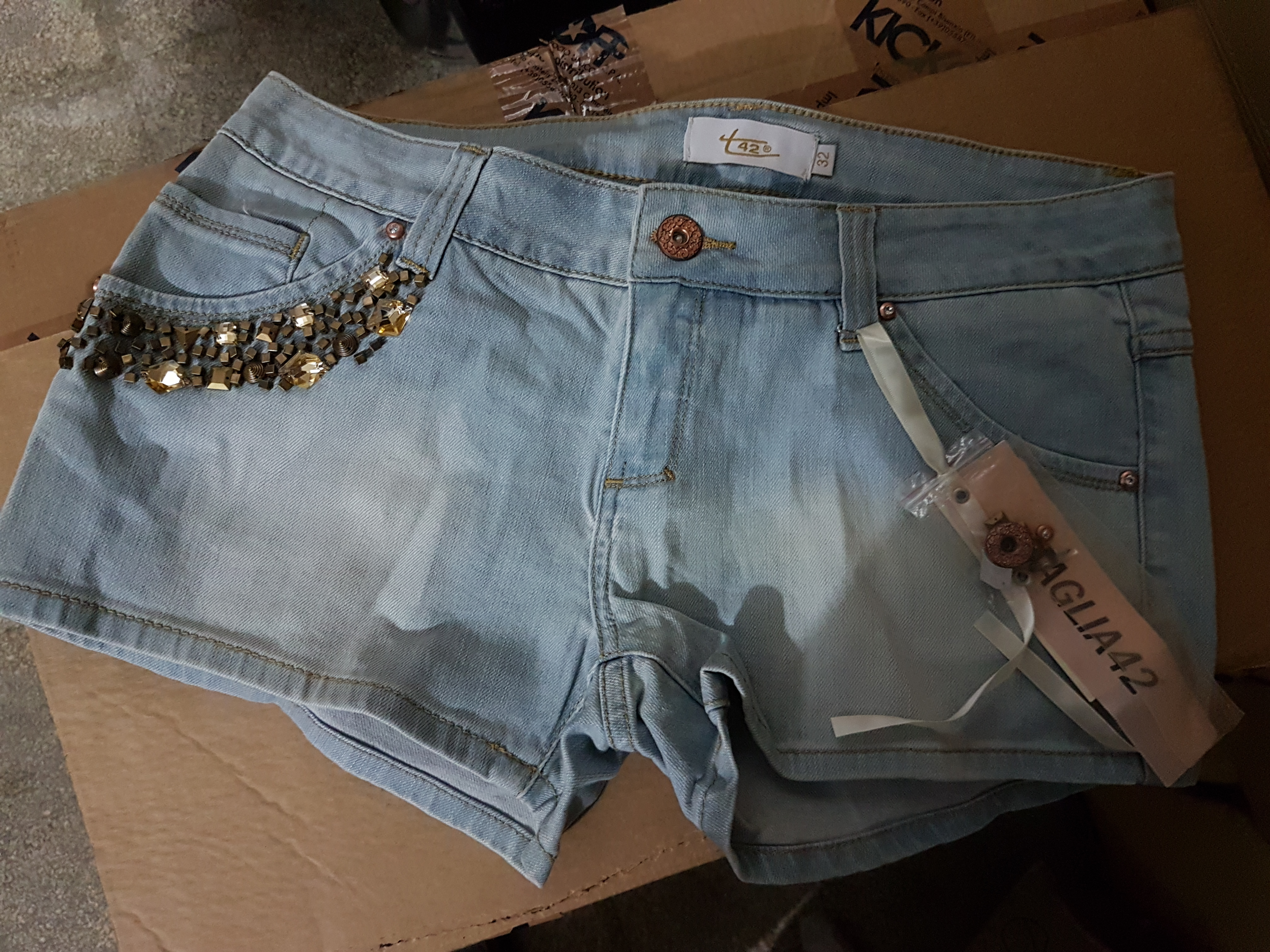 N.° 5 SHORTS IN JEANS DONNA ' TAGLIA 42 '