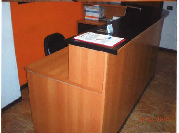 Banco reception semicircolare